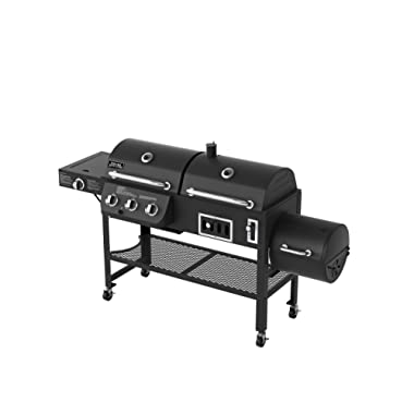 Smoke Hollow 6500 4-in-1 Combination 3-Burner Gas Grill with Side Burner, Charcoal Grill and Smoker/Firebox