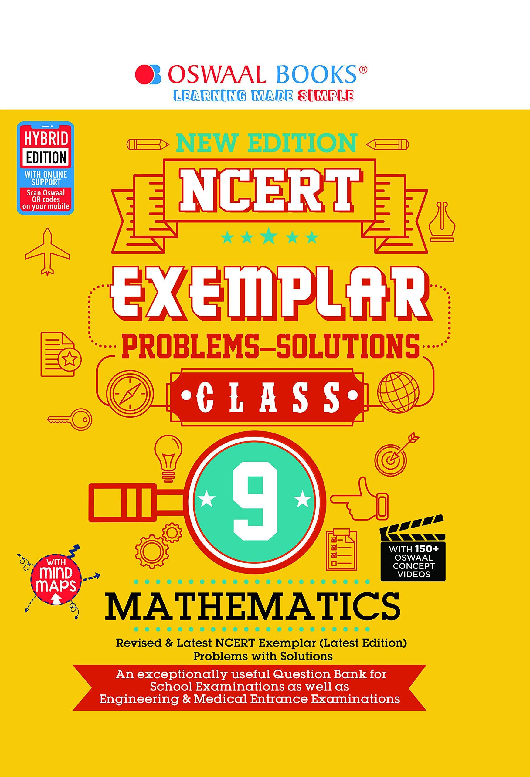 Oswaal NCERT Exemplar (Problems - Solutions) Class 9 Mathematics (For March 2020 Exam)