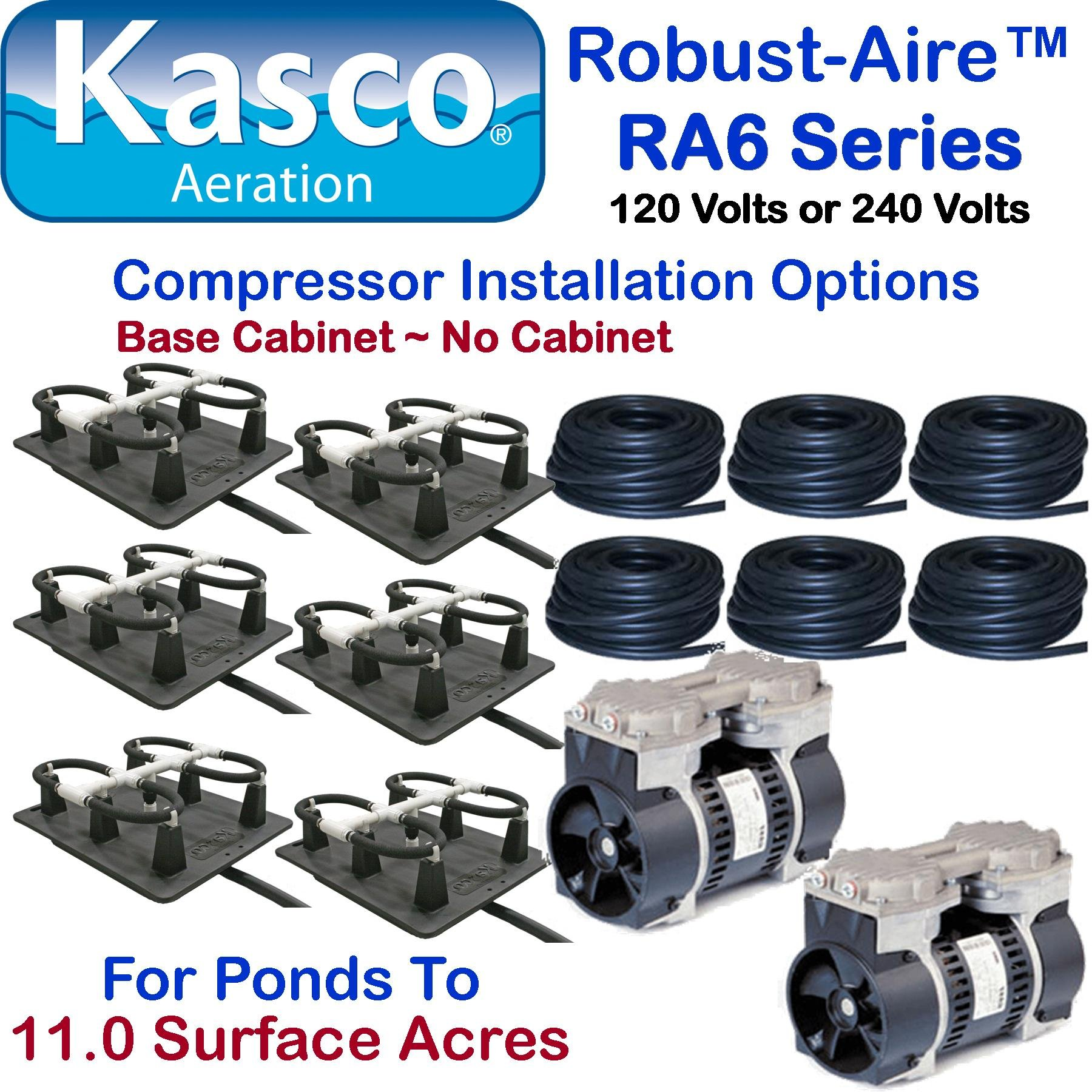 Kasco Marine Robust-Aire Aquatic Aeration System RAH6NC - For Ponds to 11.0 Surface Acres, 240 Volts, No Cabinet Included by Kasco Marine