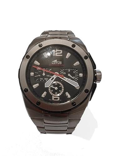 59dbdfdb8830 Lotus multifunción de acero inoxidable reloj 15431 4  Amazon.es  Relojes