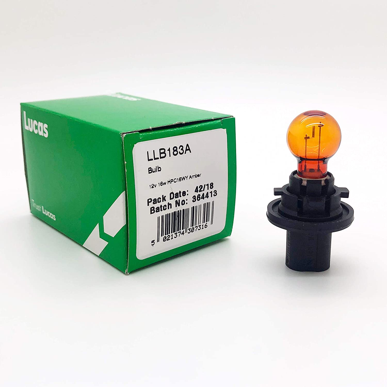 LLB183A Lucas-Elta 12V 16W AMBER HPC16WY OE QUALITY