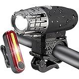 PUFF 自転車ライト ヘッドライト テールライト USB充電式 LED フロントライト テールランプ セーフティライト 懐中電灯 マウンテンバイクライト 強/ 中/弱/ フラッシュ 4モード 高輝度 防水 超小型 アウトドア専用 釣り ハイキング 災害 簡単取り付け