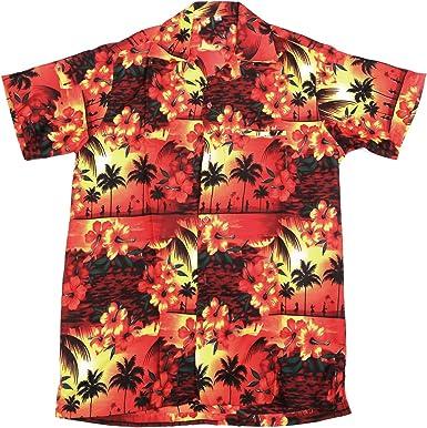 SAITARK - Camisa Hawaiana para Hombre, Estilo Playa, Verano, Fiesta, diseño de Tortuga Red Paradise XS: Amazon.es: Ropa y accesorios