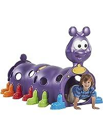 ECR4Kids ELR-12511 Indoor/Outdoor Peek-A-Boo Caterpillar Climbing Play Structure for Kids