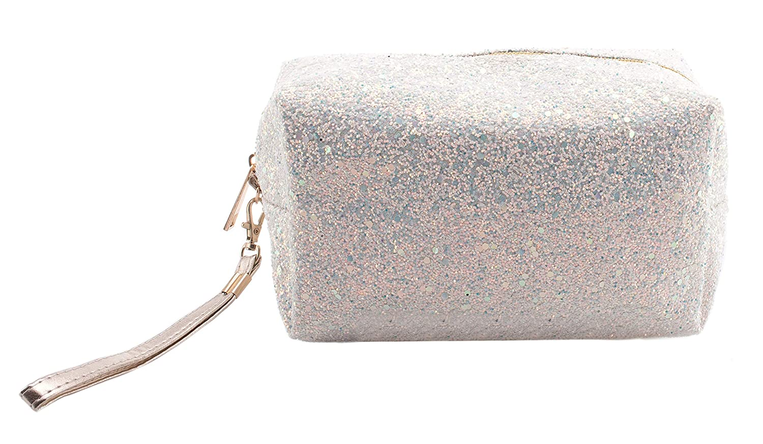 Cosmetic Bag Glitter White