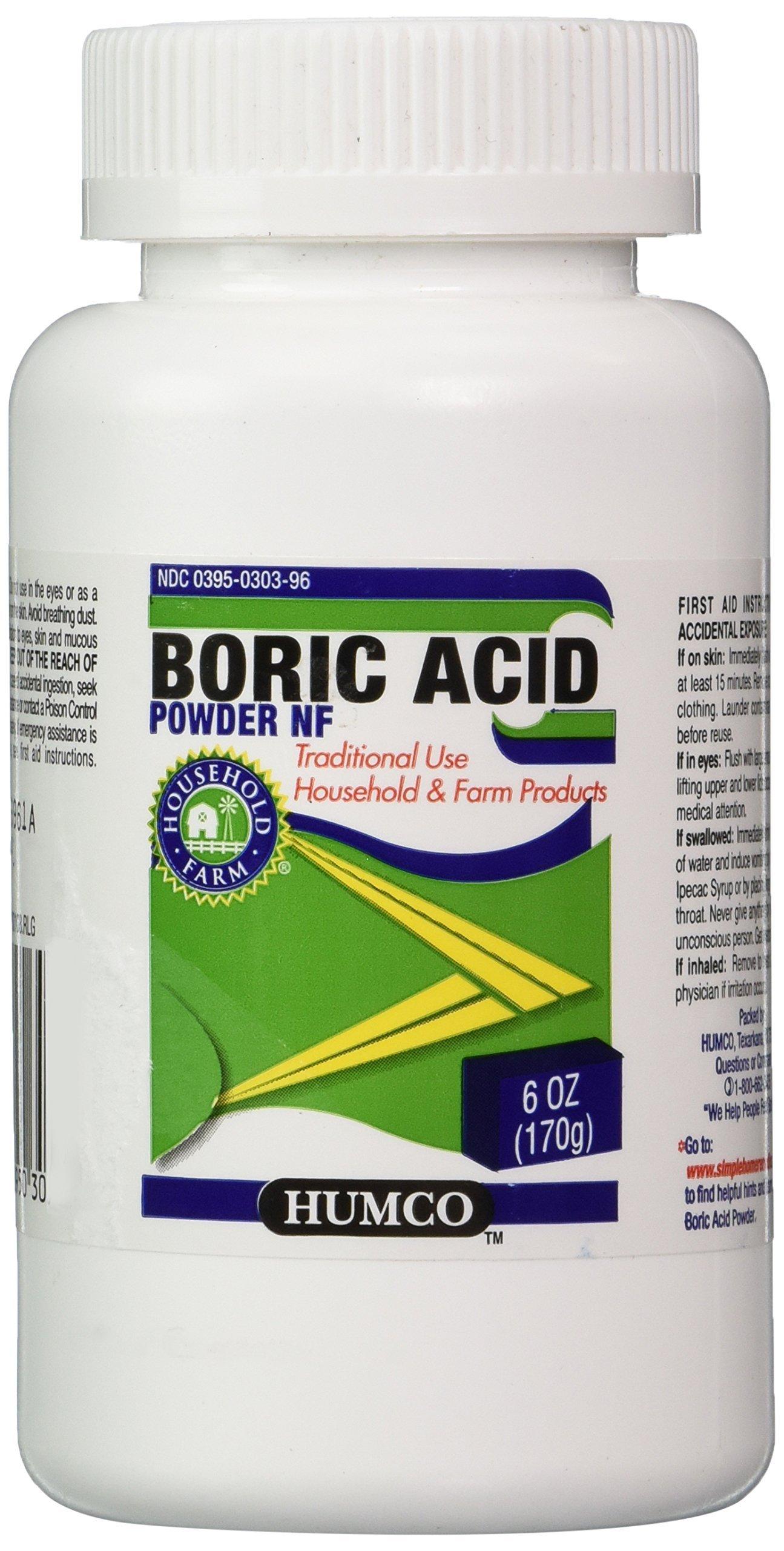 HUMCO HOLDING GROUP 303950303963 Boric Acid Powder, 6 oz.