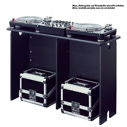 Glorious DJ Estación de trabajo DJ mesa DJ color negro