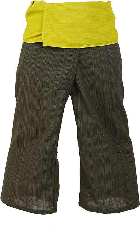 2 tonos Pescador Pantalones Tailandeses Pantalones Tamaño Libre Yoga Algodón (1101): Amazon.es: Deportes y aire libre