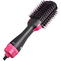 One Step Hair Dryer and Volumizer, szwintec Hair Dryer Brush 3 in 1 Hot Air Brush Anti-scald Negative Ion Hair Straightener Brush Comb Curler Styler for All Hair Types