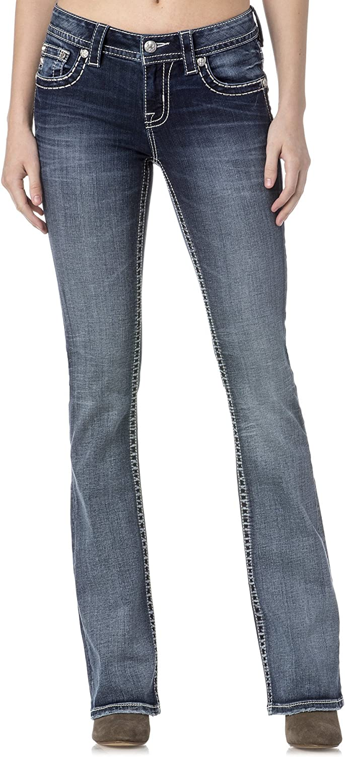 Miss Me Spread Your Wings Mid-Rise Boot Cut Jean