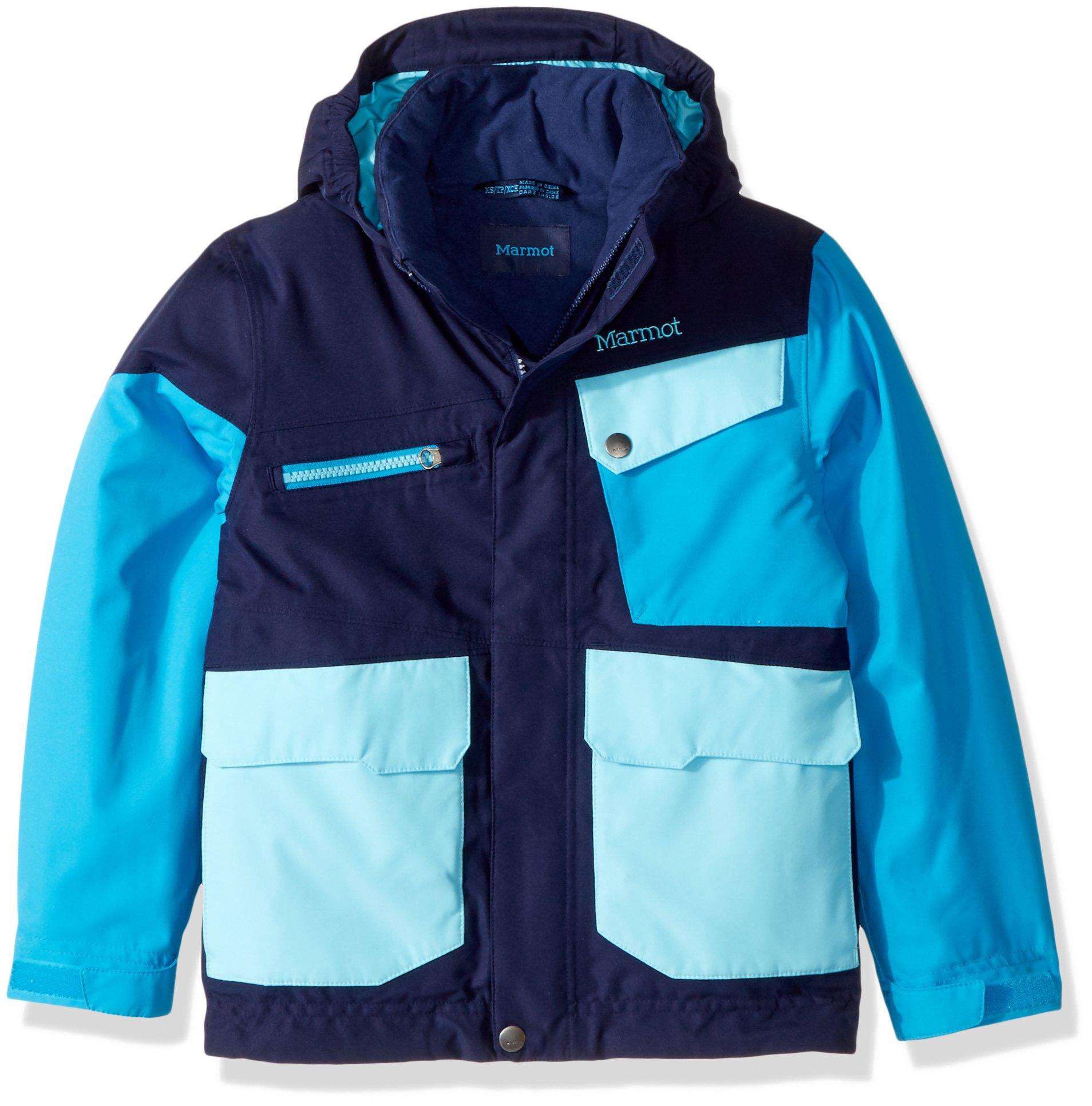 Marmot Kids Boy's Boy's Space Walk Jacket (Little Kids/Big Kids) Arctic Navy/Bahama Blue XS (4/5 Little Kids) by Marmot