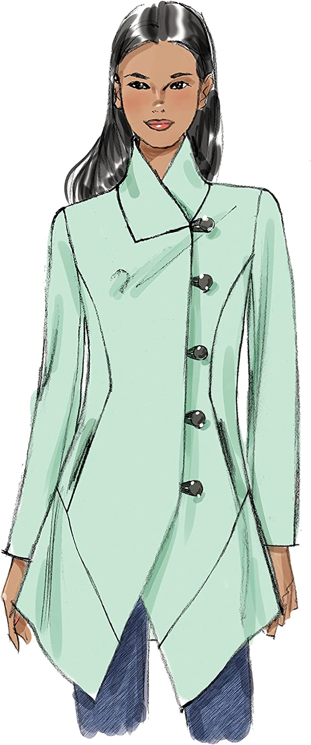 Vogue Patterns Seamed and Collared Jacket Sewing Pattern for Women Sizes 6-14