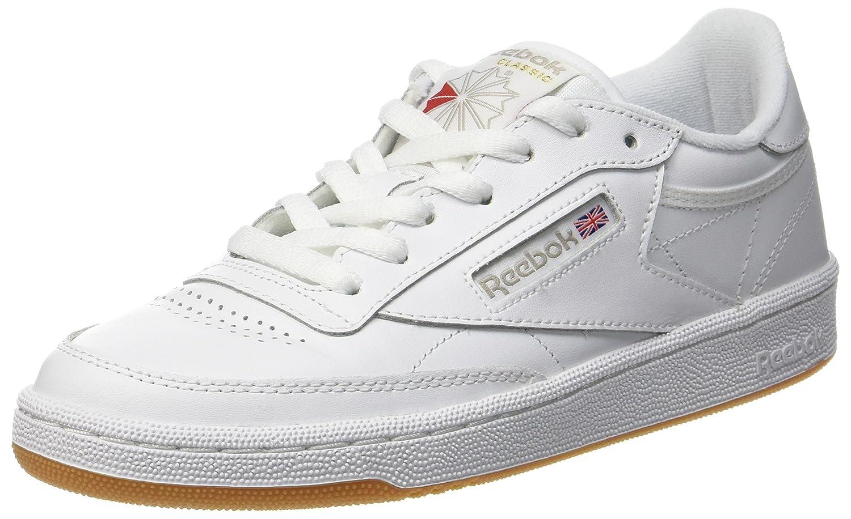 Reebok Club C 85, Zapatillas de Gimnasia para Mujer 37.5 EU|Blanco (White/Light Grey/Gum 0)