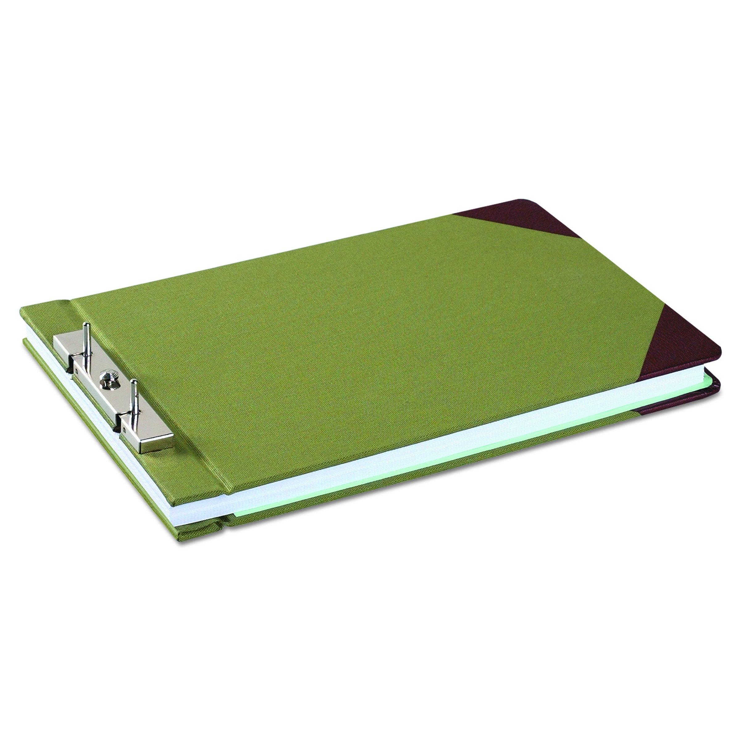 Wilson Jones 27831 Canvas Sectional Storage Post Binder, 3'' Cap, 8 1/2 x 14, Green by Wilson Jones