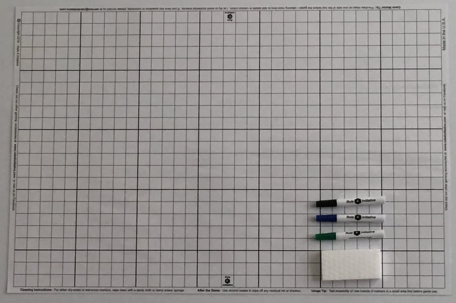 Amazon battle grid game mat dry erase white 24 x 36 with amazon battle grid game mat dry erase white 24 x 36 with 3 markers and eraser double sided 1 squares for role playing games and miniatures negle Gallery