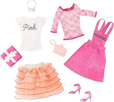 Barbie - Pack con 2 Conjuntos de Ropa para muñeca, Fiesta de ...