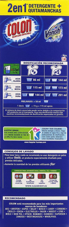 Colon Detergente polvo con Vanish - 1022 g: Amazon.es: Amazon Pantry
