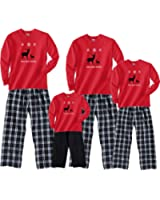 Footsteps Clothing Love Your Family Nordic Reindeer Matching Adult Pajamas & Kids Playwear For Men Women Kids Baby