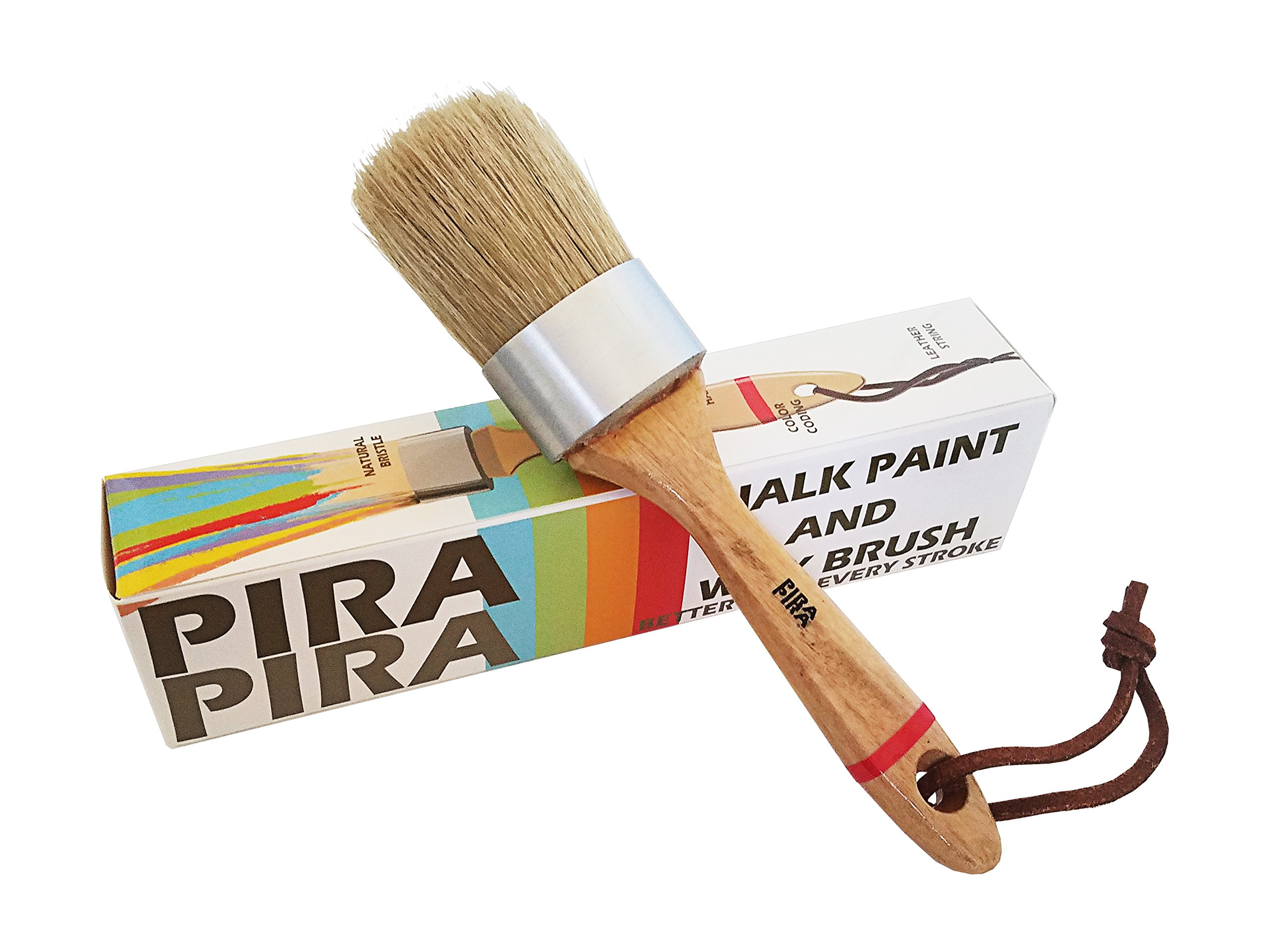 Chalk Paint and Wax Brush by PiraPira/ Natural Bristles for Maximum Performance/ Excellent with Furniture and Multi Art Purposes/ Environment Friendly Materials