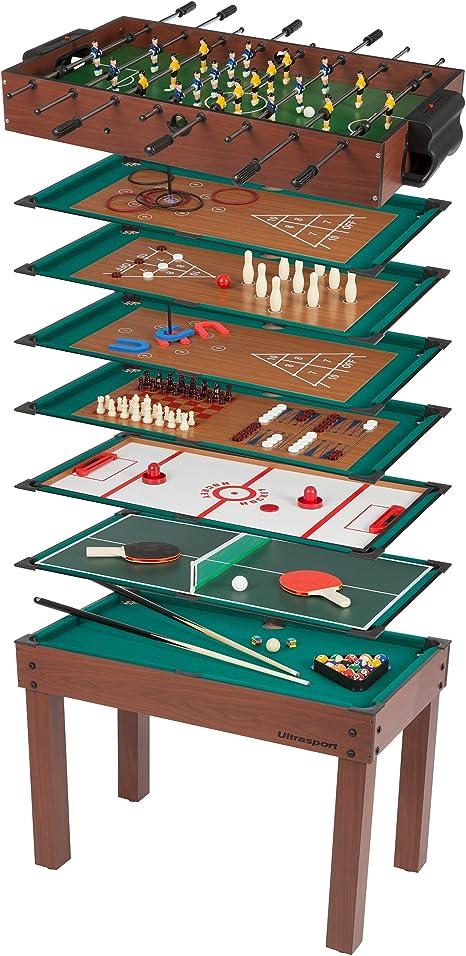 Ultrasport Mesa de Juegos 12-en-1 Game Zone, Dimensiones: 107 x 61 x 80 cm: Amazon.es: Juguetes y juegos