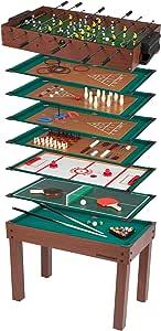 Ultrasport Mesa de Juegos 12-en-1 Game Zone, Dimensiones: 107 x 61 ...