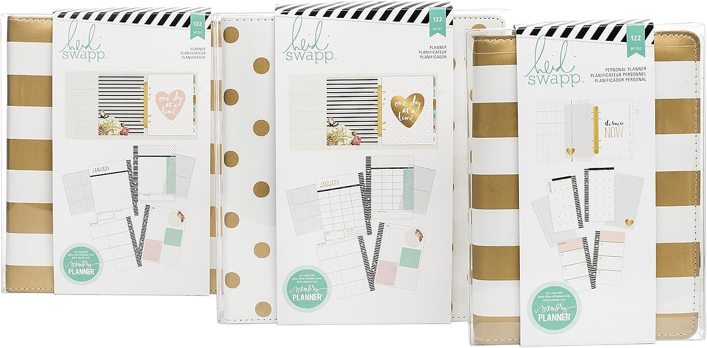 Heidi Swapp Memory Planner Fresh Start Colour Tabs x16 inc Months w Gold Foil