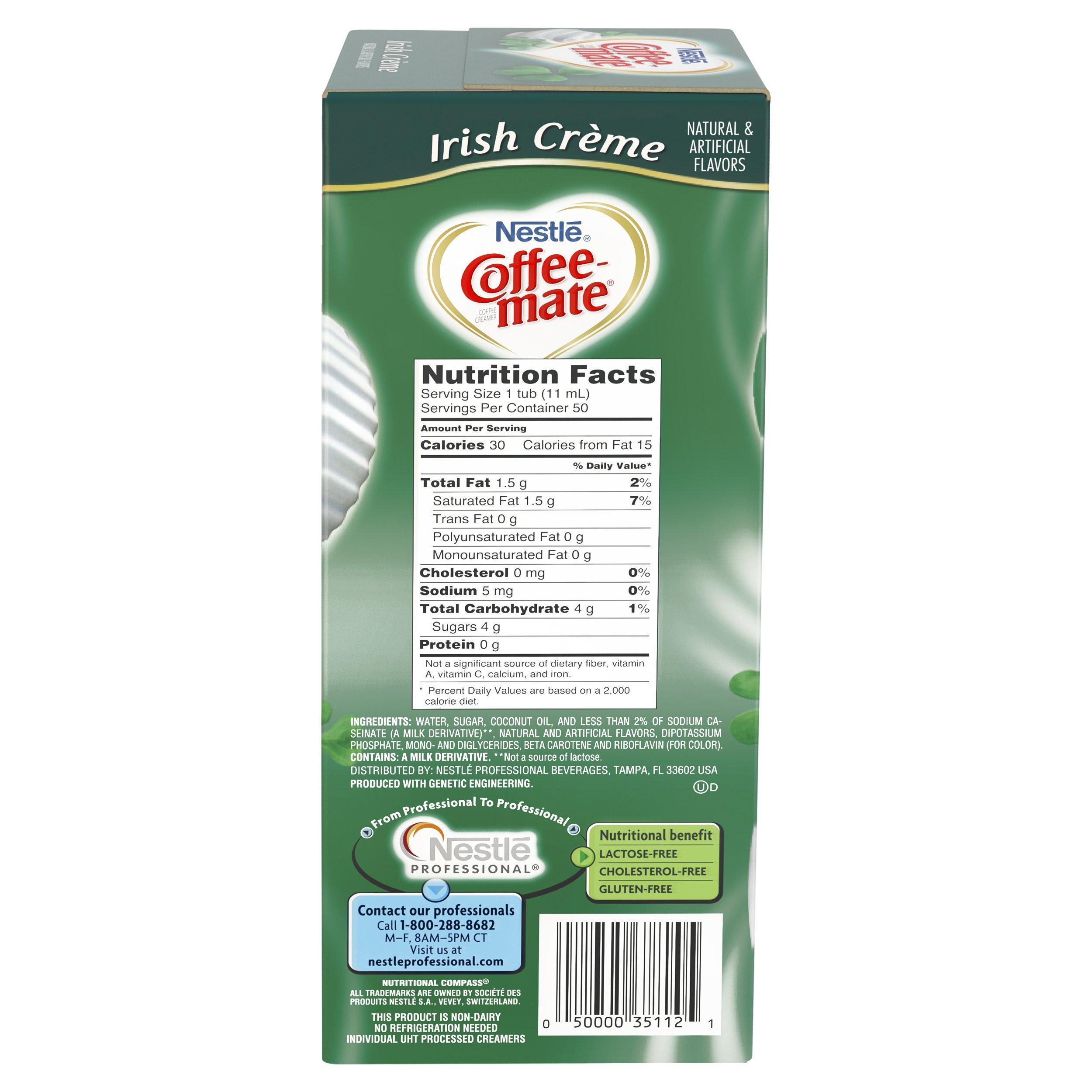 NESTLE COFFEE-MATE Coffee Creamer, Irish Creme, liquid creamer singles, 50 Count (Pack of 4) by Nestle Coffee Mate (Image #3)