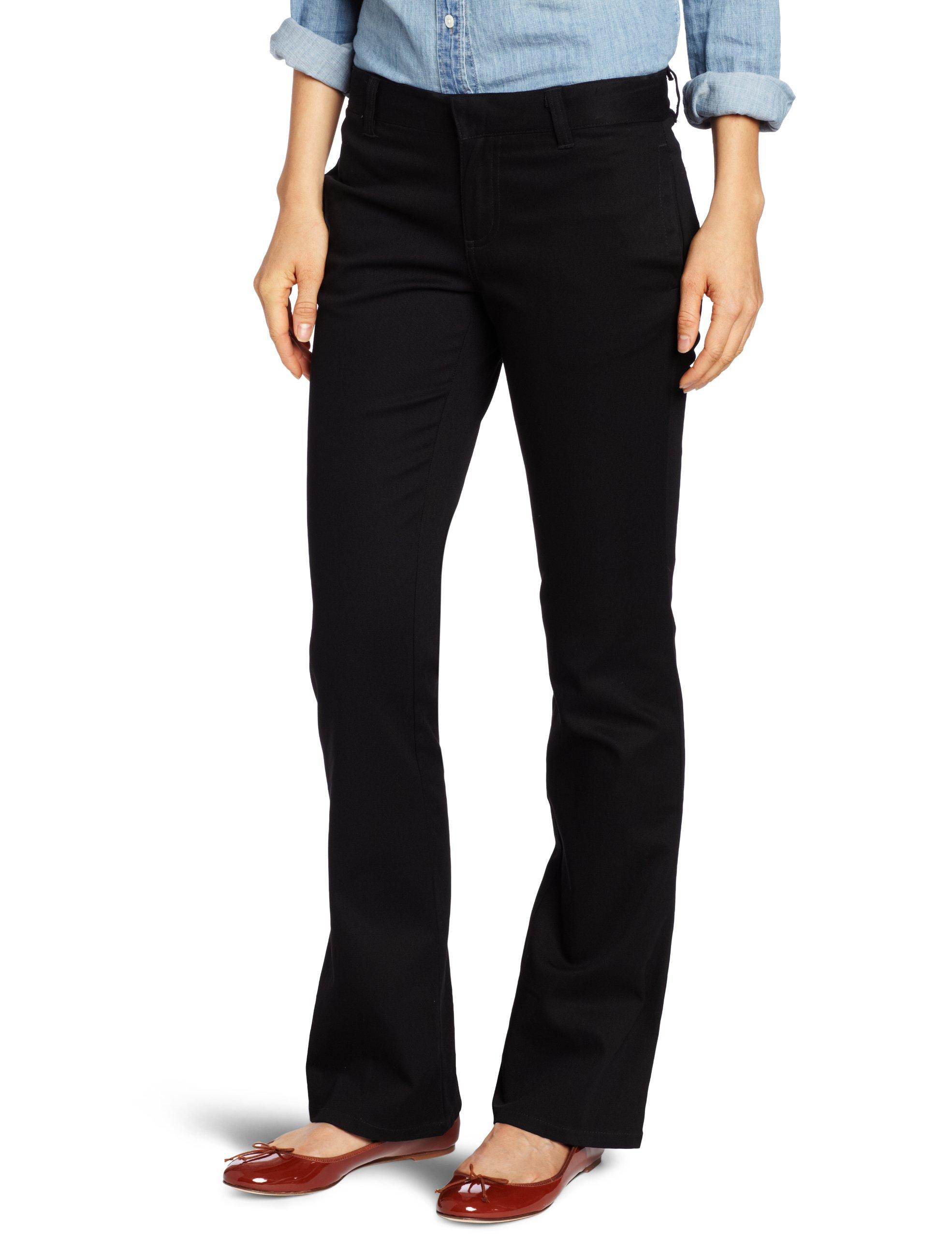 LEE Uniforms Juniors Original Bootleg Pant, Black, 1