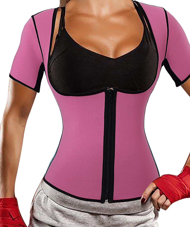 Gotoly Neoprene Sauna Vest with Sleeves Hot Sweat Exercise Fitness Bodysuit