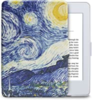 Capa para Kindle Paperwhite - Várias Estampas - Base Branca (Noite Estrelada)