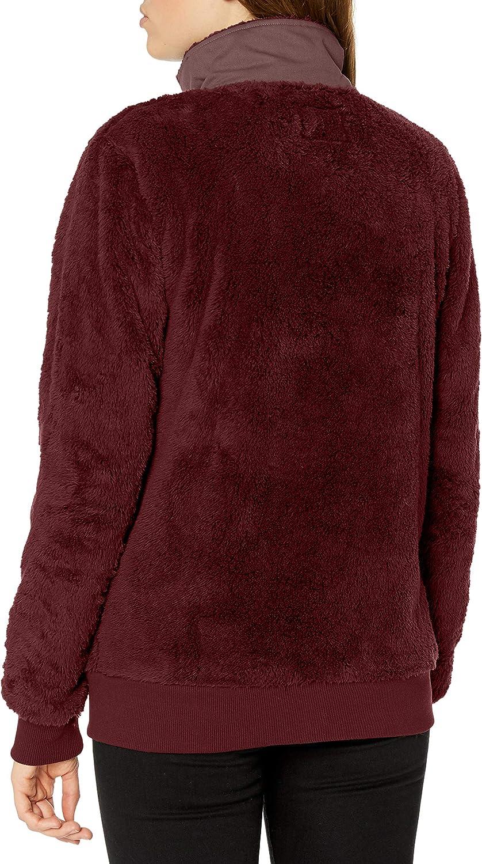 BILLABONG Damen Passport Sherpa Fleece Jacket Sweatshirt Vintage Pflaume