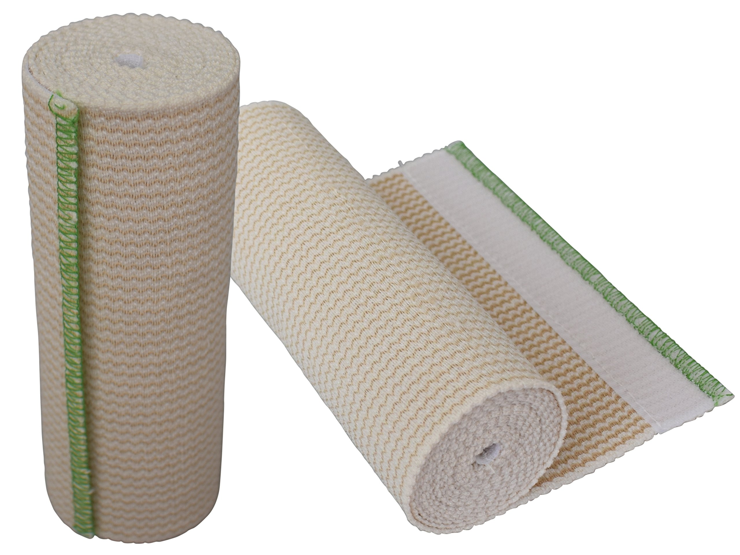 """GT® 6"""" Cotton Elastic Bandage with Hook and Loop Closure on both ends, 6 inches wide x (13 to 15 ft. when stretched), 2 Pack"""