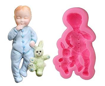 Inception Pro Infinite Molde de Silicona para Uso Artesanal Infantil con Felpa Conejito - también es Adecuado para el jabón: Amazon.es: Hogar