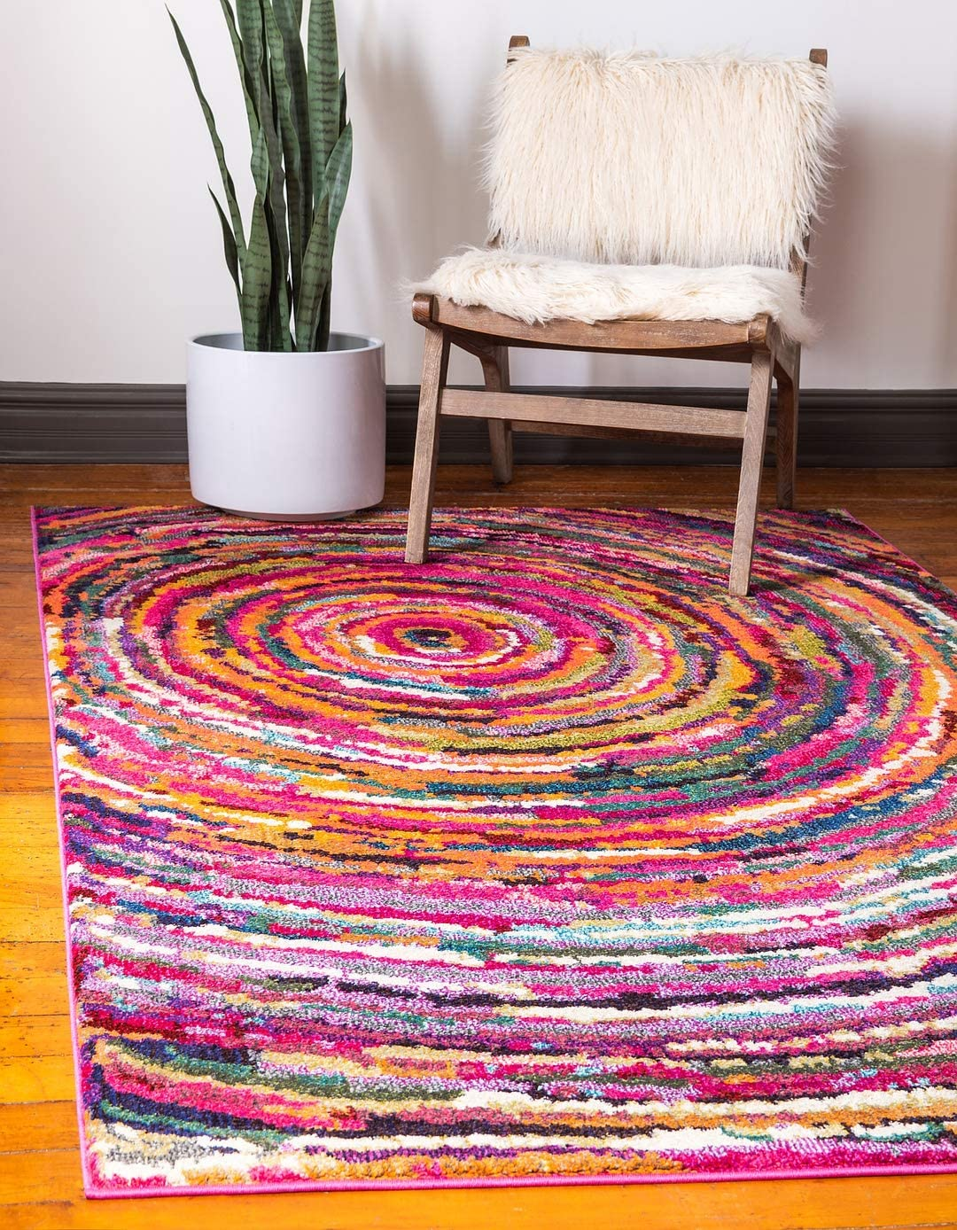 Unique Loom Estrella Collection Colorful Abstract Multi Area Rug 8 0 x 10 0