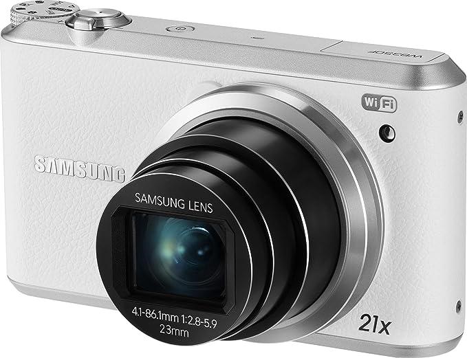 Samsung WB350F - Cámara digital Smart WiFi y NFC (pantalla táctil LCD de 3 pulgadas, 16,3 MP BSI CMOS, 21X zoom óptico, vídeo HD 1080p, cámara digital NFC), color blanco: Amazon.es: Electrónica