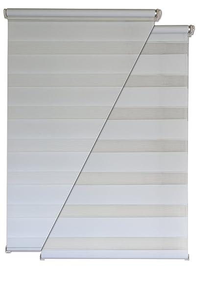 Estor doble (Liedeco – Estor (90 x 200 cm color blanco ventana Estor