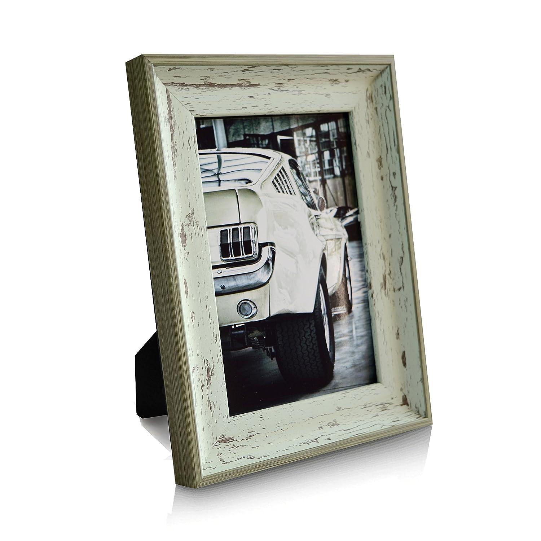 Fotogr/ö/ße 10 x 15 cm #PF017 Wei/ß Huaze Bilderrahmen Shabby Chic Vintage Europ/äischer Stil Fotorahmen