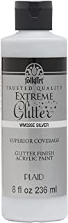 product image for FolkArt glitter paint, 8 oz, Silver 8 Fl Oz