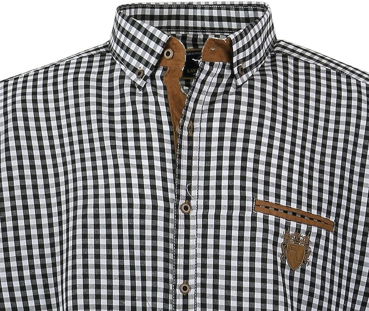 1129 mis 3-7 XL blu//bianco//marrone Lavecchia Camicia a maniche corte da uomo taglia extra grande