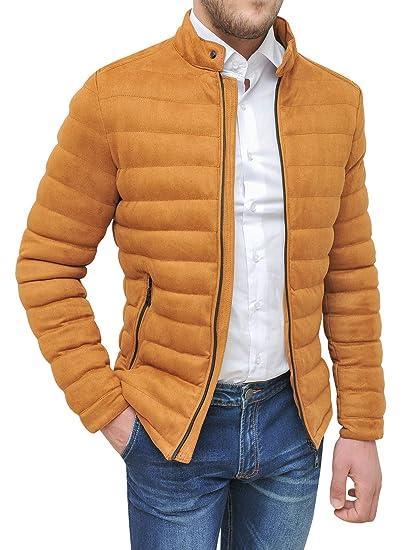 quality design 0536d 4cdc5 Evoga Cappotto giacca uomo beige cammello casual slim fit ...
