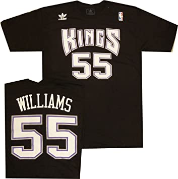 Sacramento Kings Jason Williams Adidas Throwback Vintage T Shirt (XL)