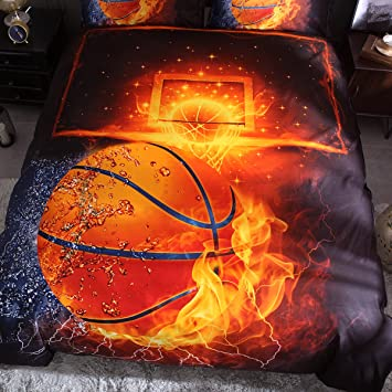 150*210cm for 1.2M Bed Multiple Onlyway doux Housse de couette D/éfinit basket-ball Parure de lit avec housse de couette et taie doreiller