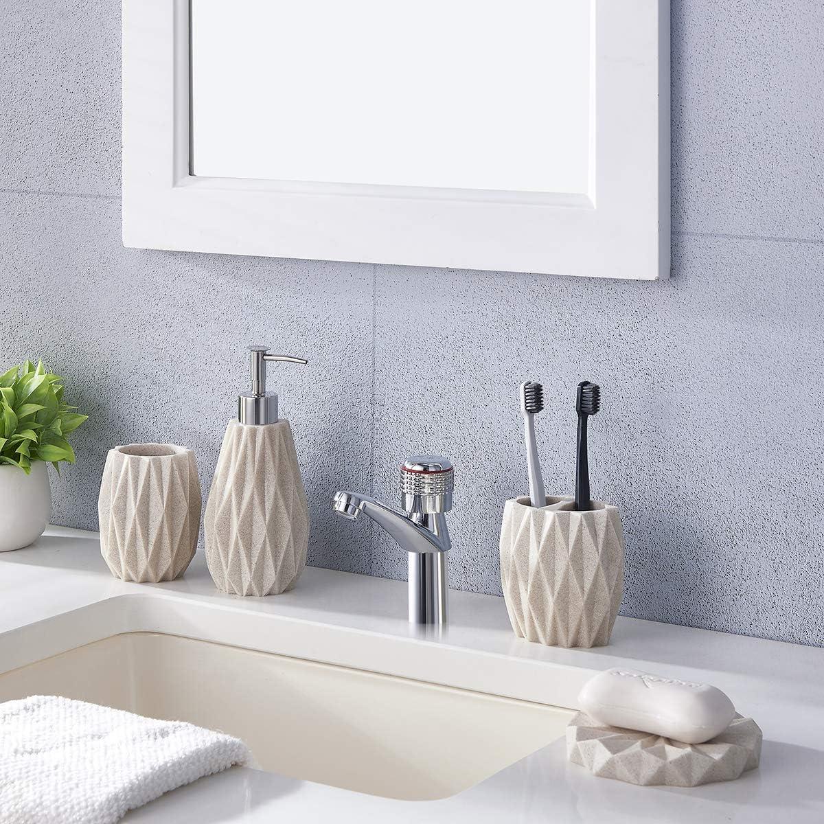 ZCCZ Bathroom Accessories Set Complete Soap Dispenser 11 Piece