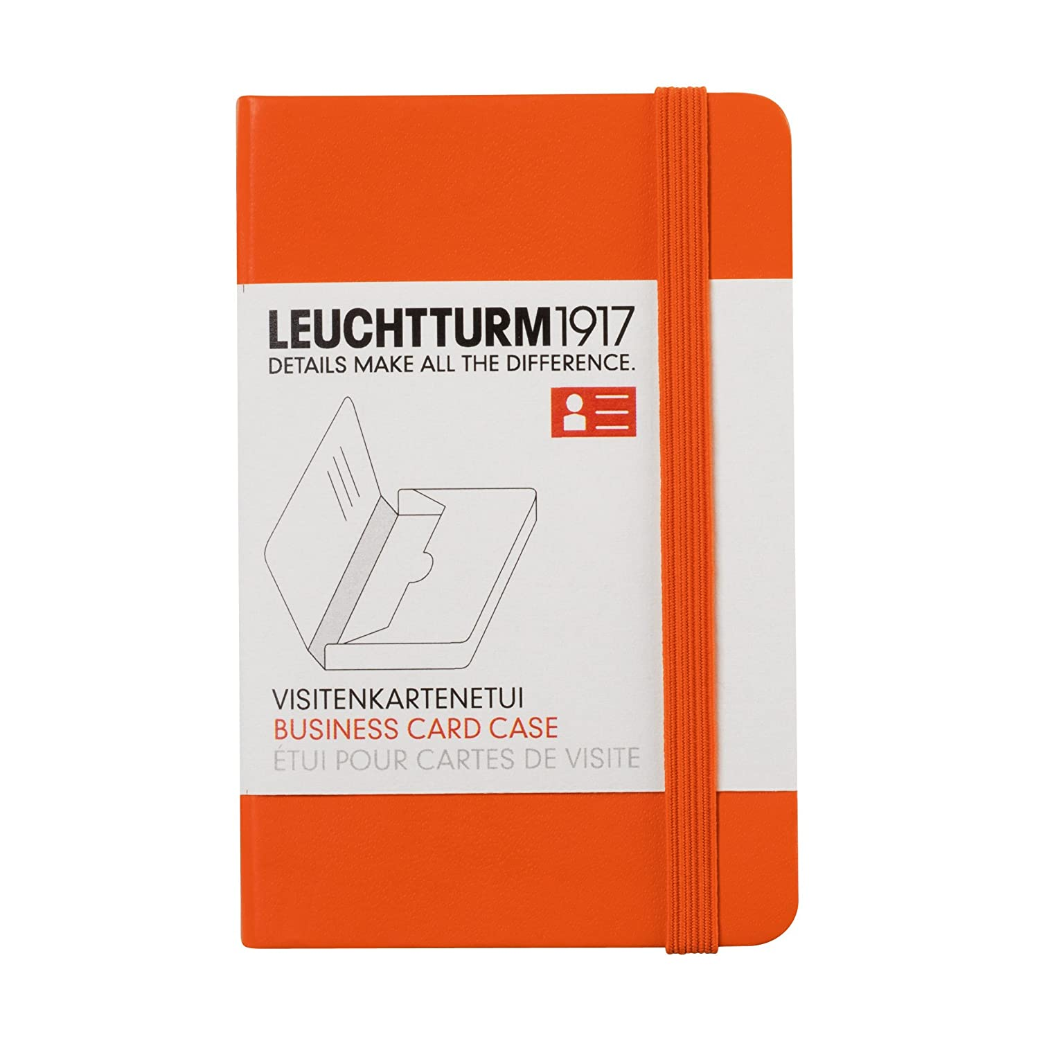 leuchtturm1917 business card holder orange office
