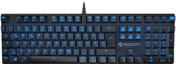 Roccat Suora mecánico sin Marco táctil Gaming Teclado Reino Unido Layout (12 – 202) Azul