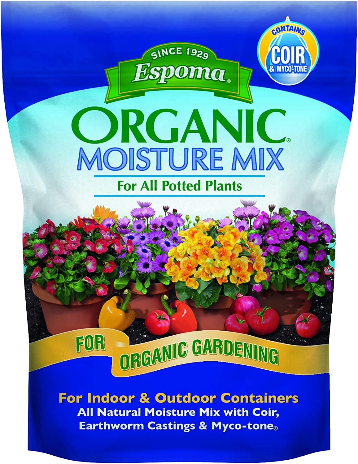 Espoma ESPMM8 Organic Moisture Mix Potting Soil, 8 Quart