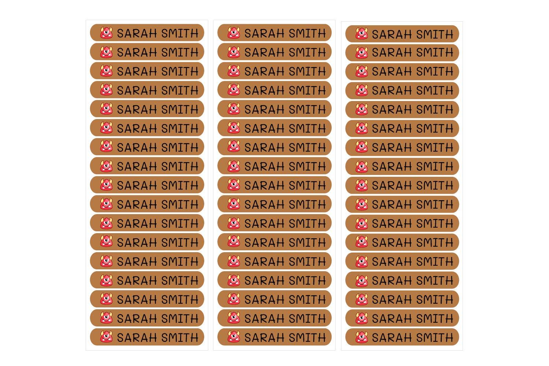 per marcare oggetti 6 x 1 cm libri 50 adesivi personalizzati ecc fucsia scatole di pranzo