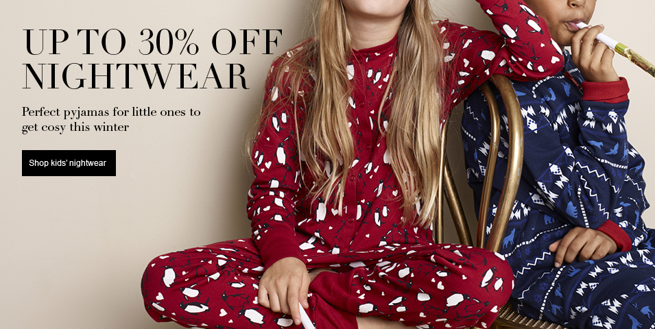 Up to 30% off Nightwear
