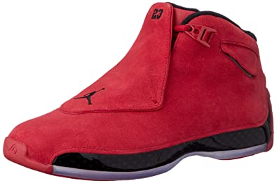 NIKE Jordan Men's Air 18 Retro, Gym Red/Black, ...
