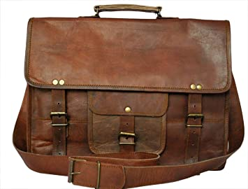 Amazon.com: Leather Vintage Rustic Crossbody Messenger Courier ...